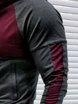 Hoodie Style Color Block Casual Patchwork Men's Outfit