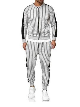 Stripe Casual Style Men's Outfit