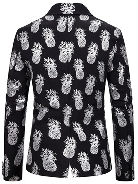 Casual Single-Breasted Notched Lapel Plant Men's Leisure Blazers