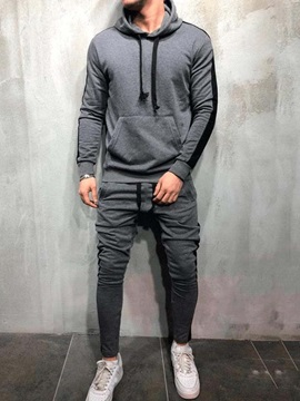 Patchwork Color Block Hoodie Spring Men's Outfit