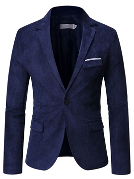 Formal Pocket Slim Notched Lapel Men's Blazer