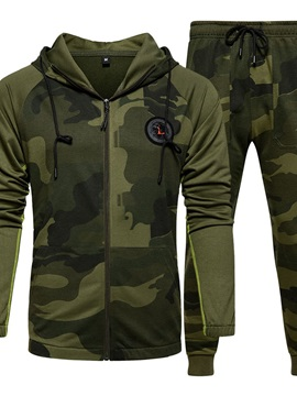 Hoodie Camouflage Casual Print Fall Men's Outfit