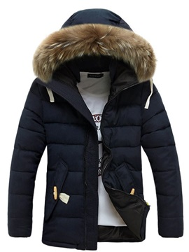 Men's Hooded Zipped Up Thicken Coat