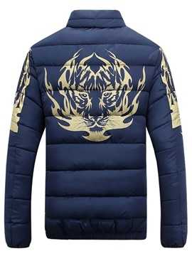 Vogue Arm Printed Men's Casual Down Jacket