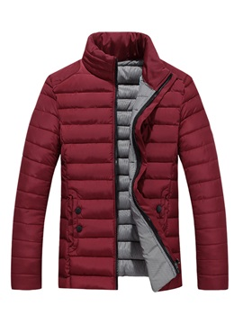 Solid Color Warm Men's Casual Down Jacket
