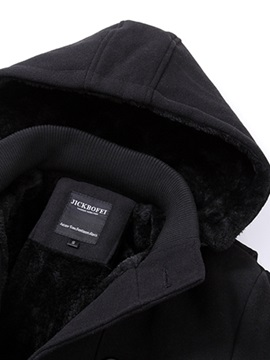 Stand Collar Solid Color Slim Patchwork Men's Trench Coat