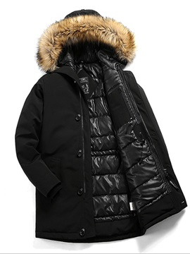 Warm Fur Hooded Winter Men's Down Coat