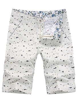 Floral Printed Zip Knee Length Men's Shorts