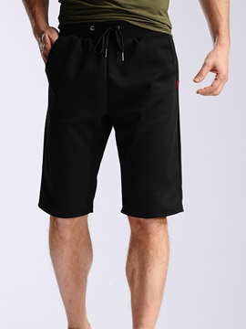 Loose Fit Lace Up Men's Casual Knee Length Shorts