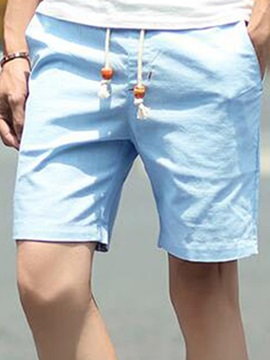 Loose Fit Plain Knee Length Men's Shorts
