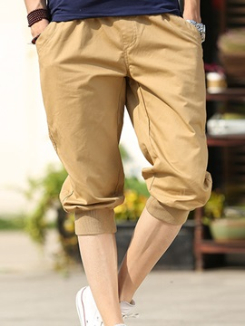 Solid Color Loose Fit Men's Casual Shorts