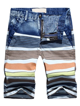 Stripe Casual Men's Loose Fit Shorts