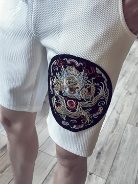 Lace-Up Floral Printed Men's Mid-Waist Shorts