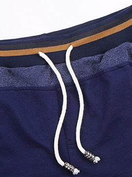 Solid Color Lace-Up Men's Causal Shorts