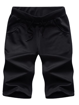 Mid-Waist Plain Loose Nylon Men's Shorts