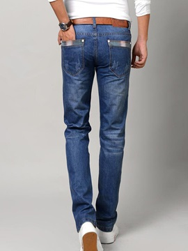 Zipper Men's Slim Fit Denim