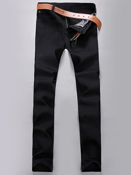 Korean Style Slim Straight Men's Denim Pants