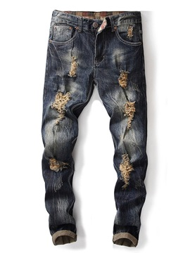 Tidebuy Hole Worn Men's Jeans