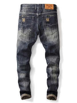 Fashion Hole Worn Men's Ripped Jeans