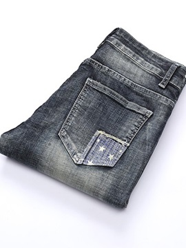 Pleated Worn Men's Ripped Jeans