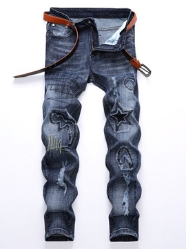 Worn Hole Fashion Men's Ripped Jeans
