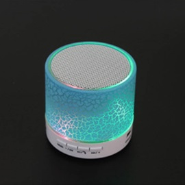 LED Mini Wireless Bluetooth Speaker A9 TF USB FM Portable Musical Audio Loudspeakers Hand-free call For phone PC with Mic