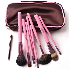 8Pcs Pink Handle Professional Make Up Brush Set