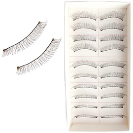 10 Pairs Handmade Lengthening Fake Eyelashes