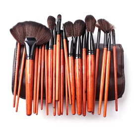 24 Pcs Professional Nylon Fiber PU Bag Brush Set