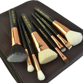 8 Pcs Stoving Varnish Wooden Handle Makeup Brush