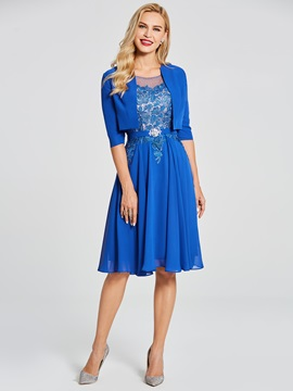 Beaded Lace Mother of the Bride Dress with Jacket