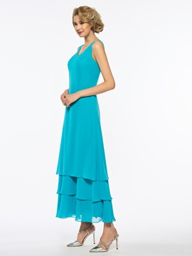 Tiered Sequins Ankle-Length Mother of the Bride Dress with Jacket