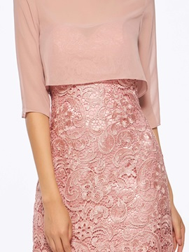 Charming Lace Mother of the Bride with Half Sleeves Jacket