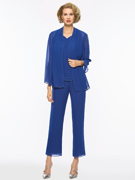 Sequins 3 Pieces Mother of the Bride Pantsuits with Jacket
