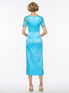 Short Sleeves Lace Mother of the Bride Dress with Jacket