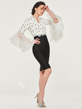Appliques Sheath Mother of the Bride Dress with Long Sleeve