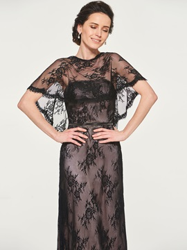 Strapless Lace Mother of the Bride Dress with Shawl