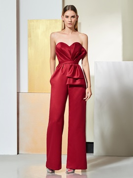Sweetheart Pockets Mother of the Bride Jumpsuit