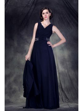 Buy Beading A-Line V-Neck Floor-Length Anderai's Mother Bride Dress Jacket/Shawl