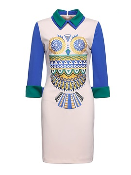 Double-Layer Neckline Embroidery Half Sleeves Little Party Dress
