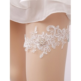 Bead Floral Lace Garters