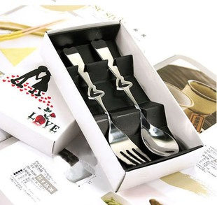 Loveable Hollow Heart Stainless Steel Serving Sets