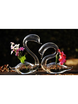 Loving Swan Model Glass Vases