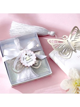 Personality Butterfly Shaped Stainless Steel Bookmark