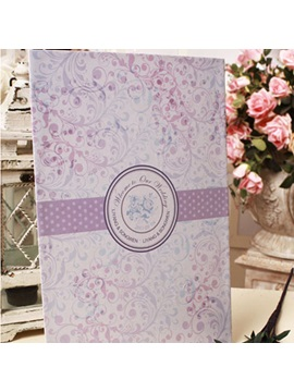 Wedding Guest Book with Lilac Flower