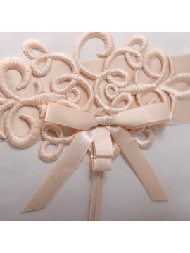 Ring Pillow With Bowknot and Lace