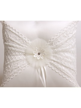 Ivory Satin Wedding Ring Pillow