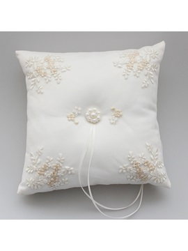 Beading Appliques Wedding Ring Pillow