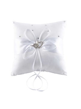 Beading Ribbons Wedding Ring Pillow