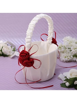 Classic Flower Basket With Bow